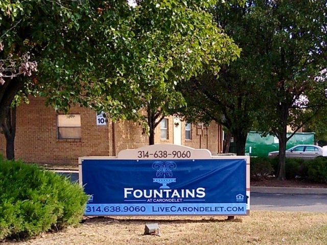 Fountains at Carondelet sign